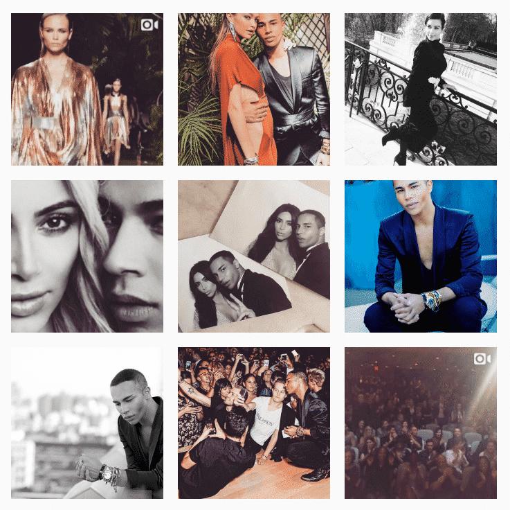 Kolaż zdjęć z Instagrama Oliviera Rousteinga