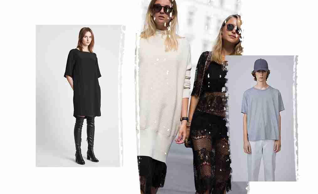 Kolaż ukazujący modę w stylu skandynawskim.